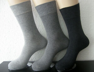 Women's Socks Without Rubber Soft Rim Bamboo Viscose 3 Grey Tones 35 - 42