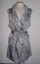 VERTIGO PARIS MS SIZE X-LARGE SILVER GRAY BELTED WAIST SLEEVELESS VEST JACKET