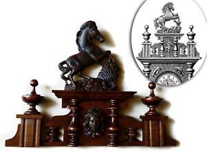 CROWN with HORSE TO THE ANTIQUE CLOCK GERMAN REGULATOR GUSTAV BECKER no.70