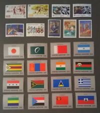 UN NY 1987 United Nations Scott 494-518 Complete MNH Year Set Lot 87* With Flags