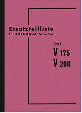 Tornax V 175 200 Ersatzteilliste Ersatzteilkatalog Teilekatalog Spare Parts List