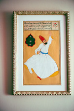 Turkish miniature, Turkish Persian Ottoman Derwish Frame Home decor