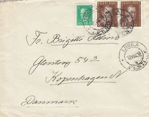 Estland, Estonia Brief von Lihula nach Kopenhagen