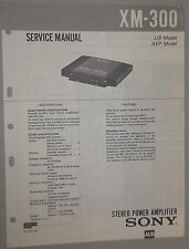 Sony Car Stereo Power Amplifier XM-300 OEM Service Manual