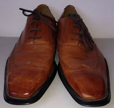 Sach Light Brown Dress Shoes Size 44 Laced