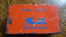 Vintage Omc Snow Cruiser Snowmobile First Aid Kit Metal Box