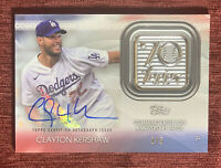 2021 Topps Series 1 CLAYTON KERSHAW #'d 1/5 70th Anniversary Patch Auto SSP🔥
