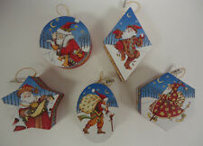 Mary Engelbreit Christmas Ornament Hanging Gift Boxes Set of 5