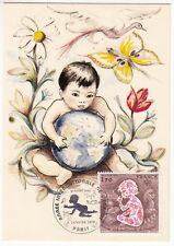 CARTE MAXIMUM FDC 1979 TIMBRE N° 2028 ANNEE INTERNATIONALE DE L ENFANT