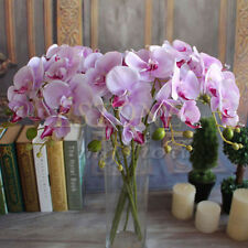 Artificial Butterfly Orchid Silk Flower Phalaenopsis Bouquet Home Wedding Decor