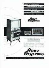 PUBLICITE ADVERTISING 126  1957  Ribet Desjardins  récépteur radio tv controle R