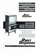 PUBLICITE ADVERTISING 126  1957  Ribet Desjardins  récépteur radio tv controle R