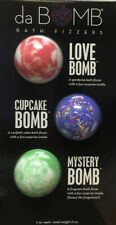 da Bomb Bath Fizzers 3 Piece Set (Love Bomb, Cupcake Bomb, Mystery Bombs) New!
