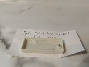 VHTF Vintage Avon Sherman Red Striped Talking Bear Replacement Battery Cover