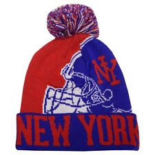 NEW YORK City Football Helmet Skull Cap Cuff Pom Beanie Winter Hat Cuffed NWT