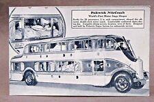 circa 1930 PICKWICK NITECOACH NIGHT COACH Bus Advertising postcard