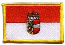 Österreich Salzburg Aufnäher Flaggen Fahnen Patch Aufbügler 8x6cm