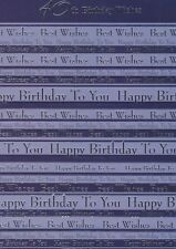 40th Birthday Wishes Greeting Card