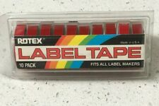 10 Pack Rotex Embossing Tape Glossy Red 38 X 144 Label Labeling New