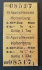 Eisenbahn Fahrkarte  1977   St.Ägyd am Neuwald - Hohenberg