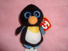 "2017 Mcdonalds Ty Teenie Beanie Boo's Waddle Penguin 3.5"" tall plush W/ tags"