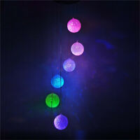 LED Solar Color Seashell Wind Changing Chimes Yard Garden Home Window Decor Lamp