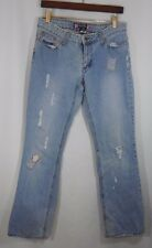 Duck Head Jeans Co. Premium Flare Size 11 Distressed Women's Jean Cherry Patch