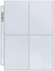 10 x ULTRA PRO 4 POCKET PLATINUM SERIES SLEEVES PAGES LARGE CARDS POSTCARDS
