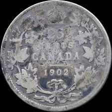 1902 Canada 25 Cent Silver Coin (5.81 Grams .925 Silver)