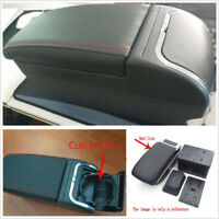 New Design High Quality PU Leather Car Central Container Armrest Box Cup Holder