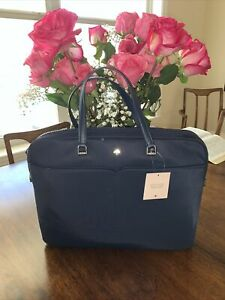 New Kate Spade Jae Laptop bag nightcap Navy Blue