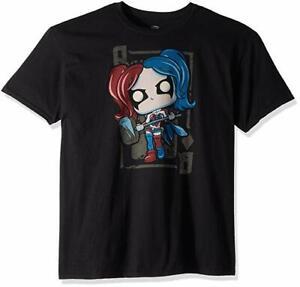Funko Pop Tees Dc-Harley Quinn Diamond Queen T Shirt New