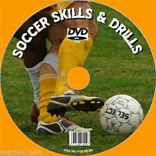FOOTBALL COACHING & SOCCER DRILLS SKILLS &TACTICS ALL LEVELS VIDEO DVD & PC CD