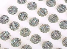 CB064-8SW 80 x 8mm Self Adhesive AB CLEAR Resin Diamante Stick on Bubble Gems