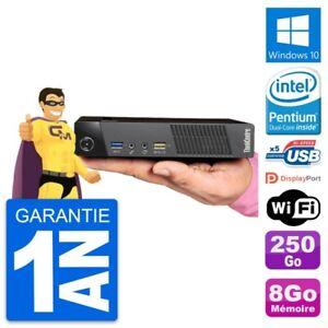Ultra Mini PC Lenovo M93p Tiny G3220T RAM 8Go Disque 250Go Windows 10 Wifi