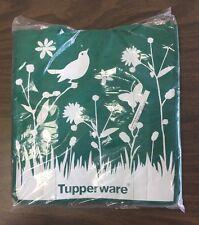 "New-Rare-Set Of 4-Tupperware Shopping Bags 13""Lx8""Wx14""W Green w/ Birds & Grass"