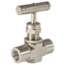 "316 STAINLESS STEEL TWIN FERRULES - 1/4"" NPTF F/F 6000PSI 316SS NEEDLE VALVE 7-0"
