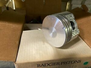 (6) Badger Pistons Standard Pistons  2.8L 173 cid GM cars and trucks 1981-93 NOS