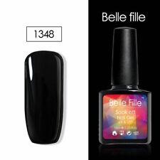 BELLE FILLE 10ML Nail UV Gel Polish Soak Off Top Base Coat Gel Nail Art #1348