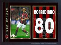 Ronaldinho Milan t shirt signed autograph photo poster print Framed MDF