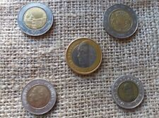BI-METALLIC COLLECTION - LOT OF 5 MIXED WORLD COINS