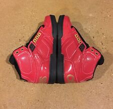 Osiris Nyc 83 Size 5.5 US Men's Red Gold Black BMX DC Skate Shoes Sneakers
