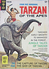 Tarzan of the Apes #169 1967 Gold Key Silver Age VG+ 4.5 12 Cent Cover