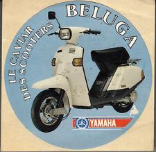 "AUTOCOLLANT ""LE CAVIAR DES SCOOTERS BELUGA / YAMAHA""  (Diametre 10 cm)"