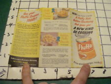Orig brochure -- BETTY CROCKER - gold medal flour recipes & coupon - 1938