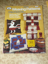 Navaho Weaving Patterns 70s Vintage Instruction Book ~ Full Size Weave Project