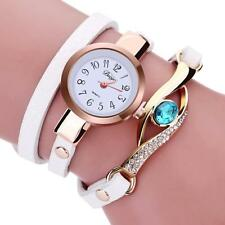 Women Diamond Bracelet Watch Wrap Around Leatheroid Quartz Wrist Watch Trusty