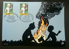 Belgium Congo Joint Issue Comics Kuifje Tintin 2001 Cartoon (joint FDC) *Rare
