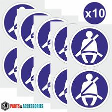 """10x 2"""" si prega di allacciare le cinture devono essere indossati in Vinile Adesivo Segno Decalcomanie per auto"""