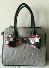 Betsey Johnson quilted hearts bow bag